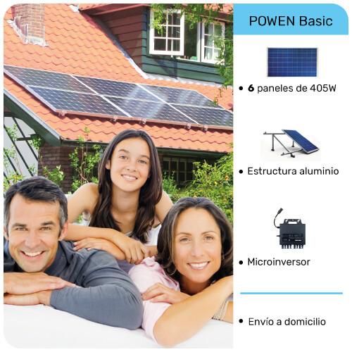 Sistema POWEN de 6 paneles solares 405W