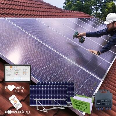 Sistema POWEN PLATINUM de paneles solares de 405 W