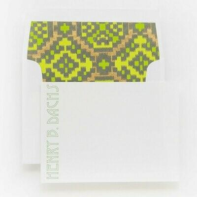 Green & Gold Ikat