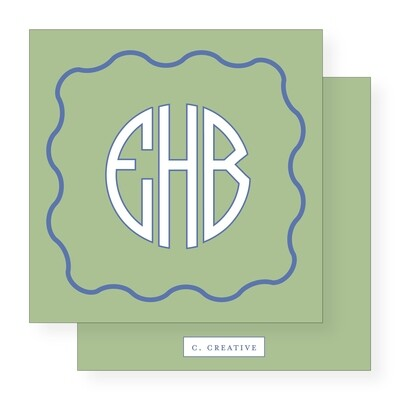 Circle Monogram Green