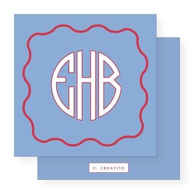 Circle Monogram Blue