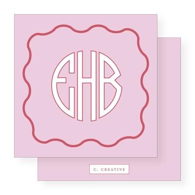 Circle Monogram Pink