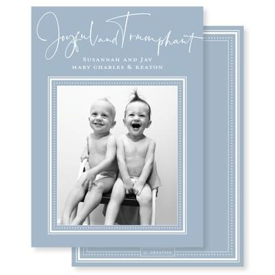 Joyful & Triumphant Blue