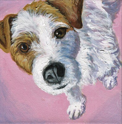 JRT, acrylic on gallery wrap canvas, 8