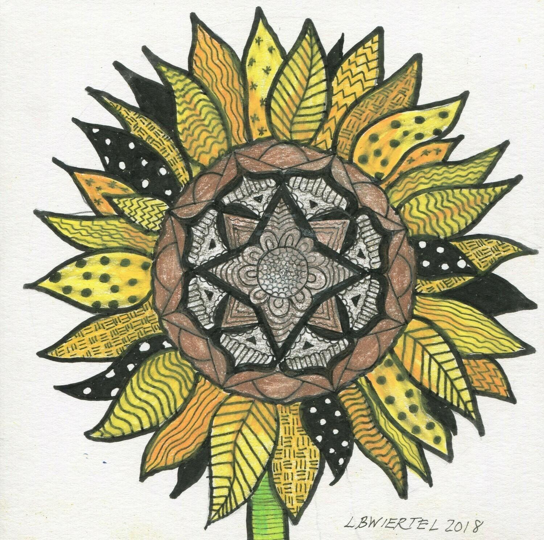 Sunflower Zentangle