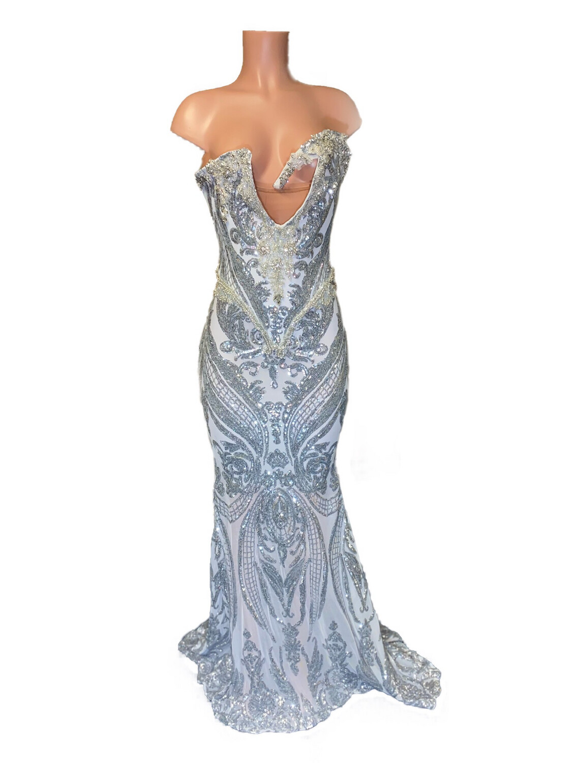 Silver Drip Gown