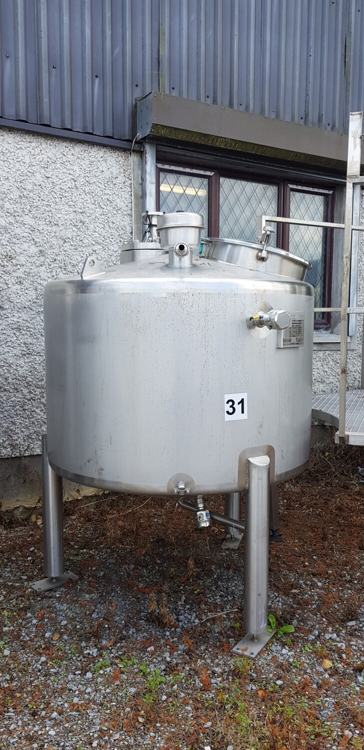​1m³ Single Skin Stainless Steel Tank with Agitator