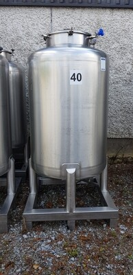 0.5m³ Single Skin Stainless Steel Tank