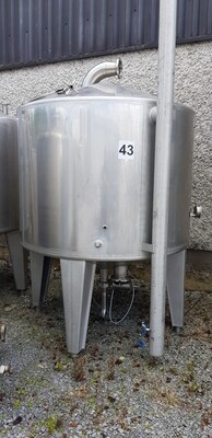 1.5m³ Single Skin Stainless Steel Tank