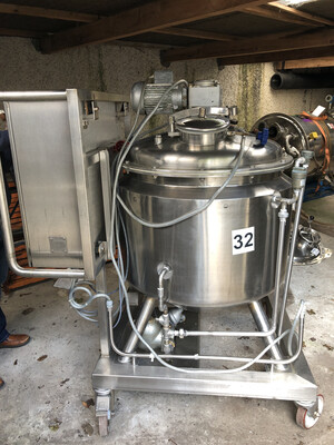 0.25m³ Insulated Jacketed Stainless Steel Tank with Agitator