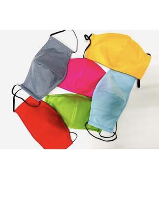 3lyr Adult Reusable Fabric Mask (Colours)