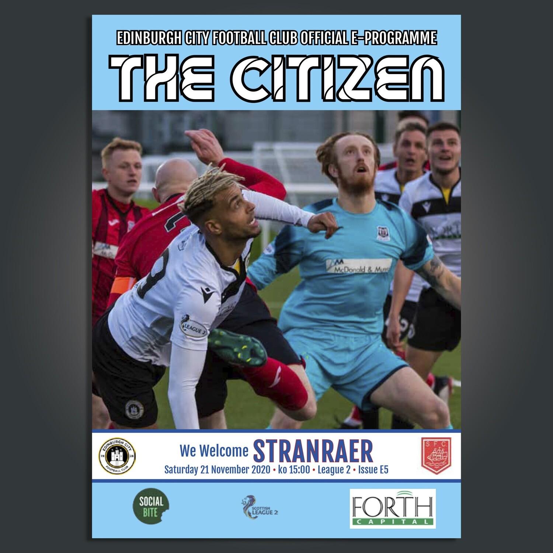 Stranraer | League 2 | Sat 21 Nov 2020