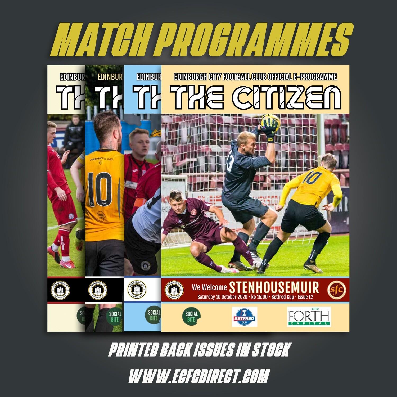 Season 2021/22 Printed Programmes