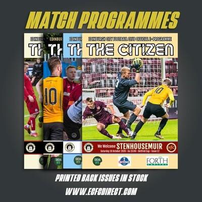 Season 2020/21 Printed Programmes