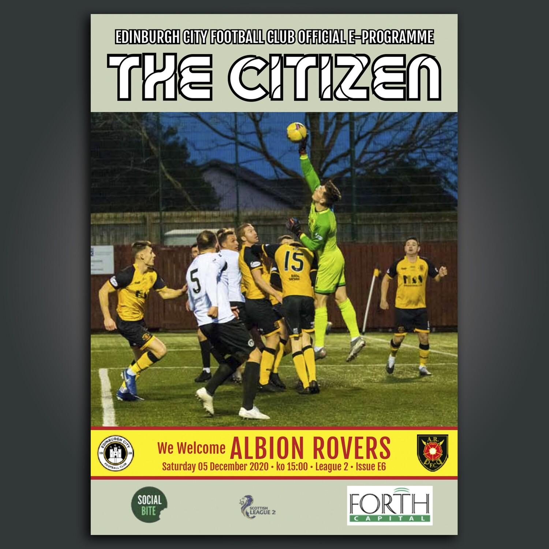Albion Rovers | League 2 | Sat 5 Dec  2020