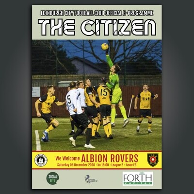 Albion Rovers | League 2 | Sat 5 Dec  2020