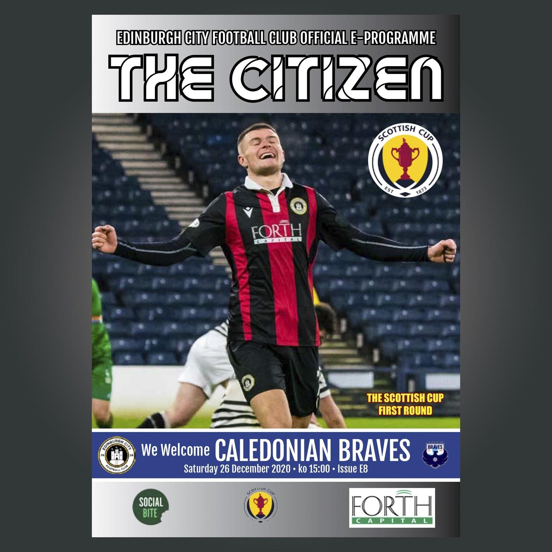 Caledonian Braves | Scottish Cup | Sat 26 Dec  2020