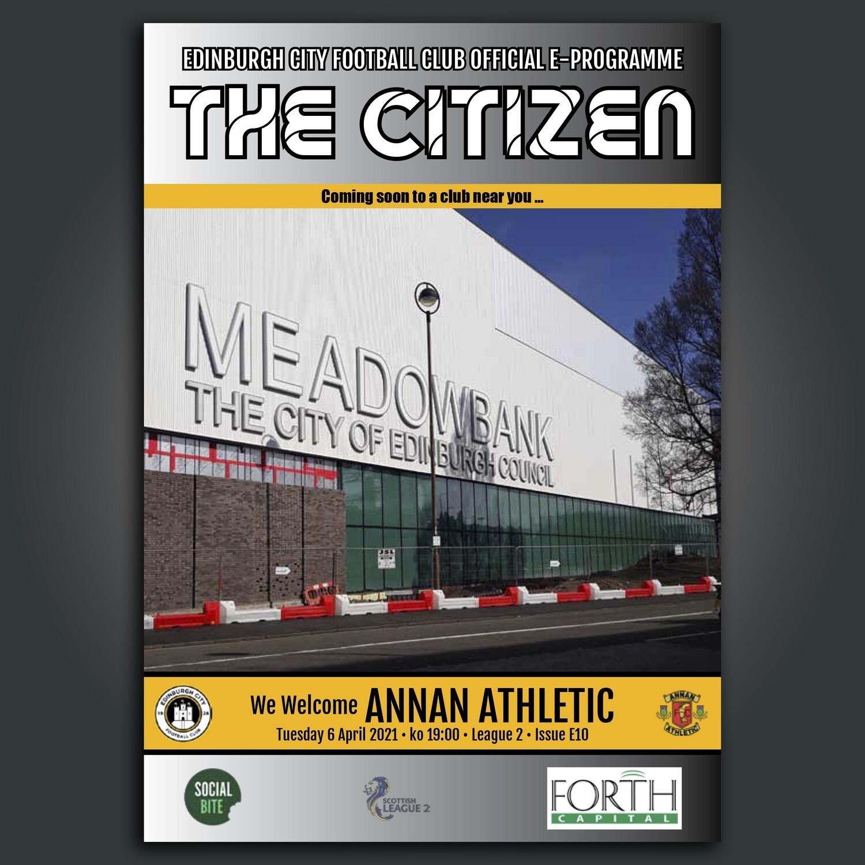 Annan Athletic | League 2 | Tue 6 April 2021