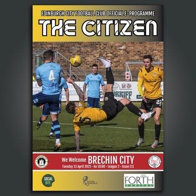 Brechin City | League 2 | Tue 13 April 2021