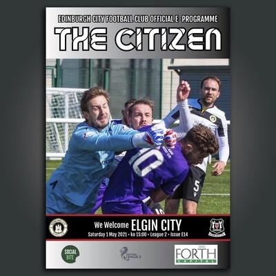Elgin City | League 2 | Sat 1 May 2021