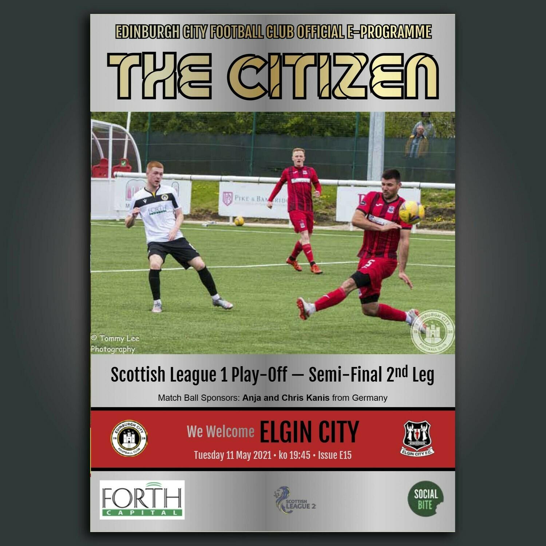 Elgin City | Play Off Semi Final | Tue 11 May 2021