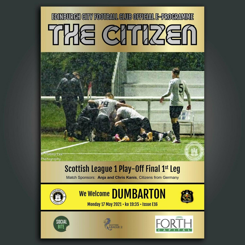 Dumbarton | Play Off Final First Leg | Mon17 May 2021