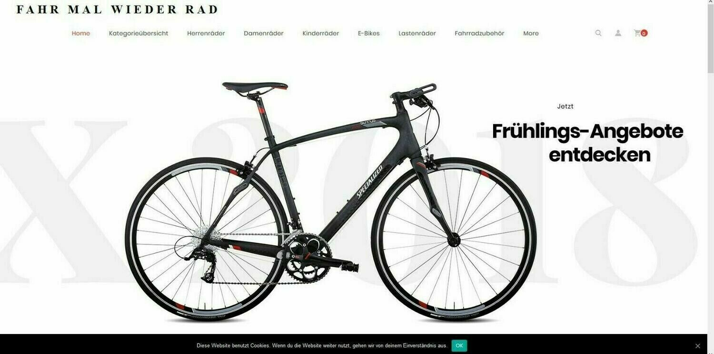 Amazon Affiliate Shop Fahrrad Shop mit 1452 Artikel online - Wordpress