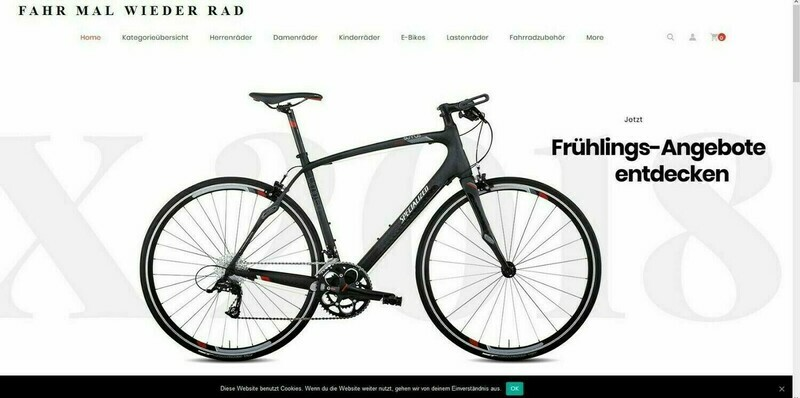 Amazon Affiliate Shop Fahrrad Shop mit 1452 Artikel online - Wordpress