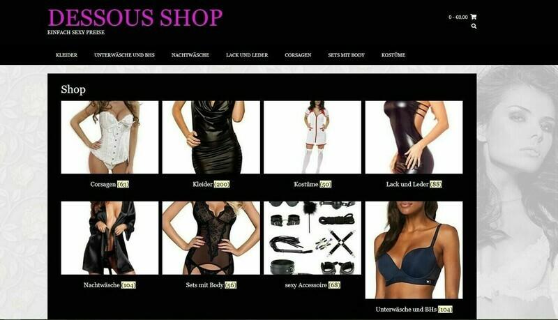 Amazon Affiliate Shop, Dessous Shop - 629 Artikel