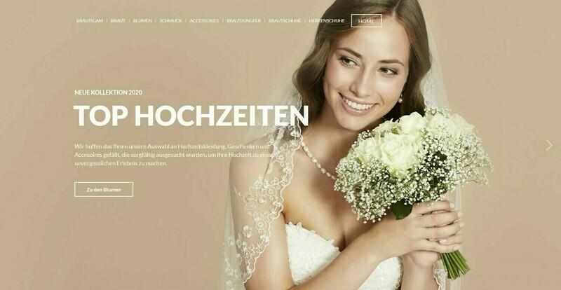 Amazon Affiliate Shop,Hochzeit Shop mit 974 Artikel online - Wordpress
