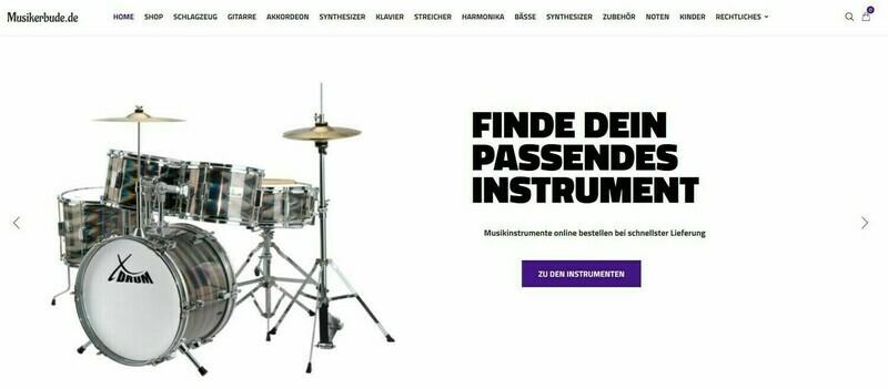 Amazon Affiliate Shop Webshop für Musikinstrumente und Zubehör