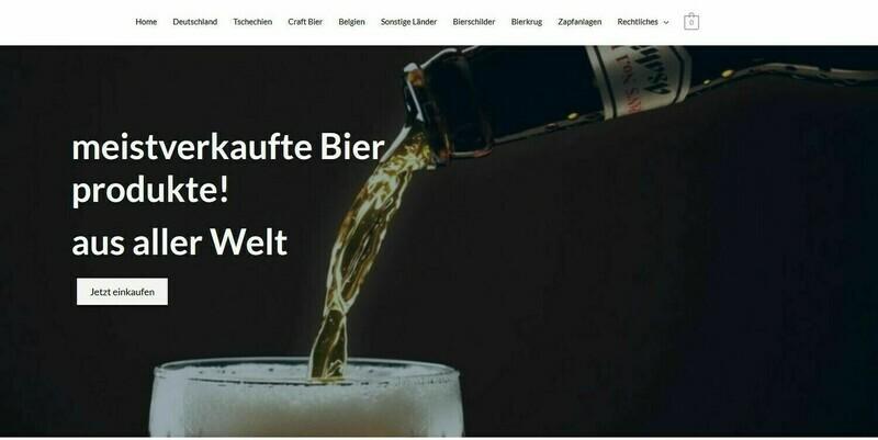 Amazon Affiliate Shop Webshop über Bierprodukte -714 Produkte