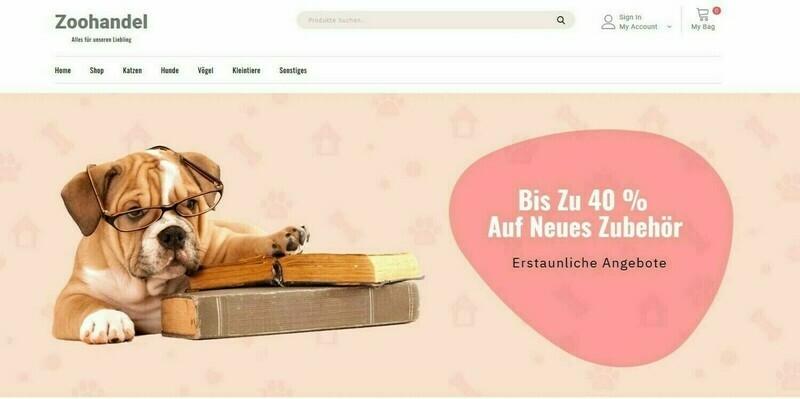 Amazon Affiliate Shop Zoohandlung Shop