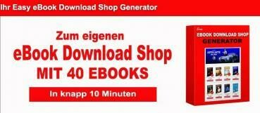 Easy eBook Download Shop Generator mit 40 eBooks