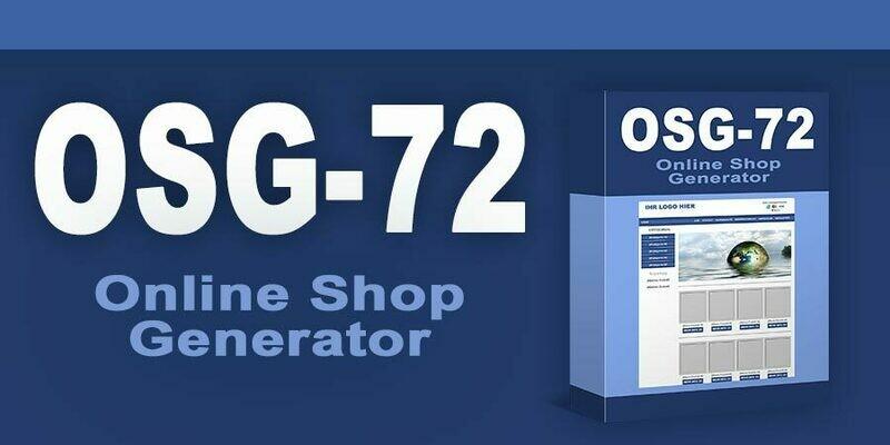 Online Shop Generator zum selber befüllen mit 72 Produkten mit PLR-Lizenz