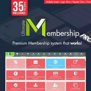 Ultimate Membership Pro ★ Original Wordpress Plugin für mehrere Webseiten