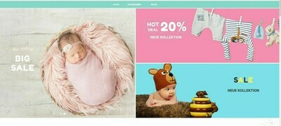 NEU-Webshop für Babyartikel-1157 Produkt-Wordpress Amazon Affiliate-NEU