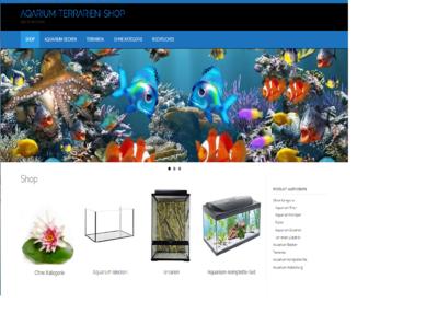 Neu  Amazon Affiliate Shop, Aquarium-Terrarien-Shop mit ca. 657 Artikel Online Neu