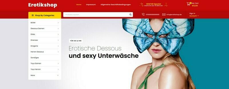 Dropshipping Dessous & Erotikshop + Liste mit 333 Händler - 5732 Produkte im Shop - kein Shopify