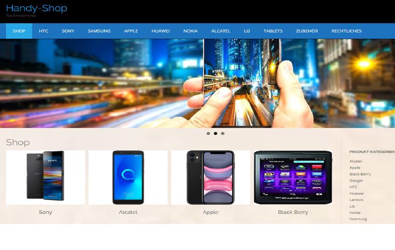 Amazon Affiliate Shop Handy Shop Version 2 ca. 1156 Artikel Online