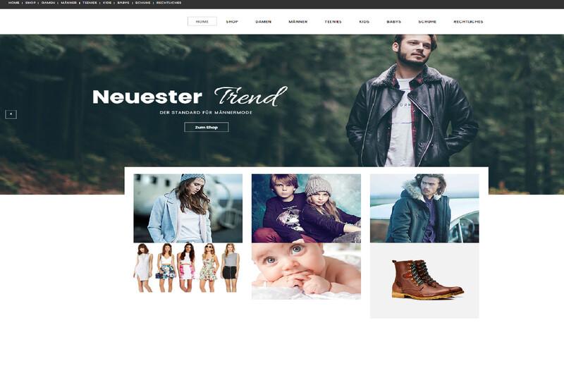 Amazon-Affiliate-Shop (Wordpress)  Familien-               Mode-Shop