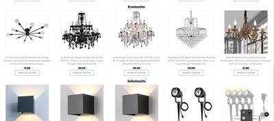 Webshop für Lampen - 1506 Artikel - Wordpress Amazon Affiliate