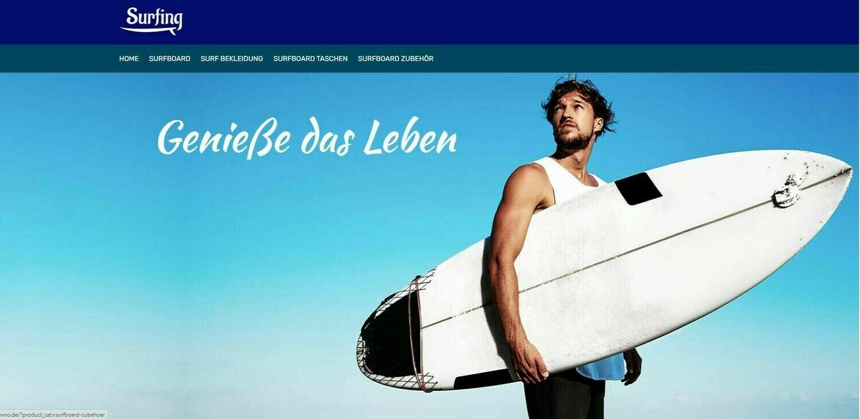 Amazon -Affiliate-Shop (Wordpress) Surf-Shop+Zubehör 727 Artikel Online