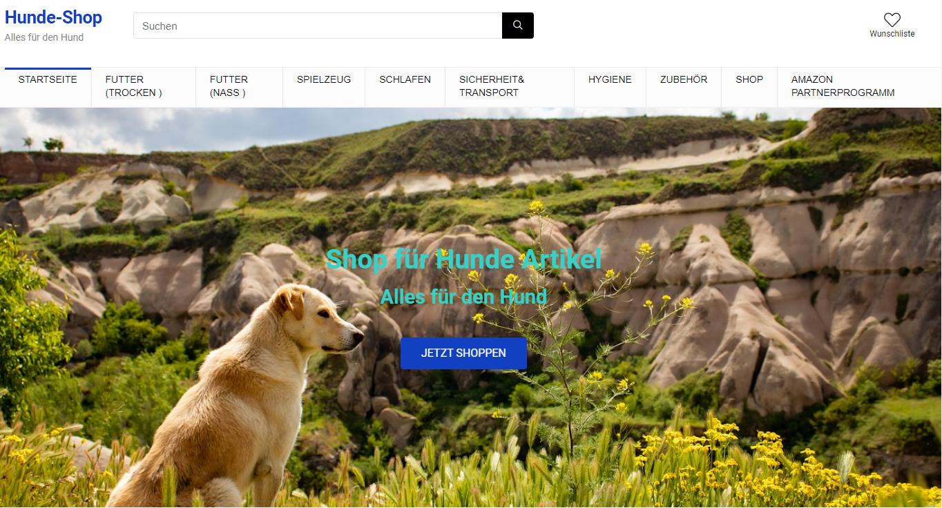 Amazon Affiliate Shop - Wordpress -Hunde -Shop