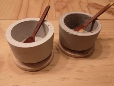 Pocillos c/tapa de madera