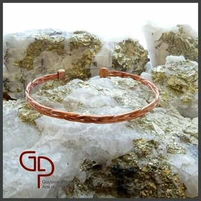 Bracelet en cuivre tressé