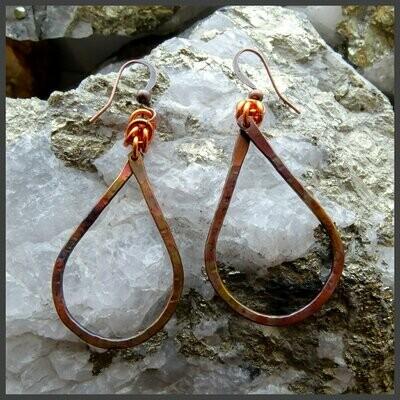 Boucles d'oreilles cuivre #11