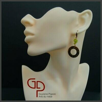 Boucles d'oreilles cuivre #8