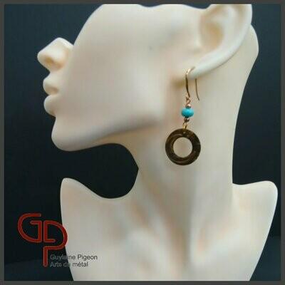 Boucles d'oreilles cuivre #7