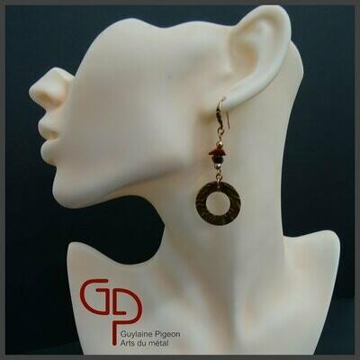 Boucles d'oreilles cuivre #6